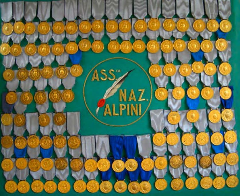 Il medagliere degli Alpini