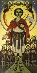 San Maurizio e la legione tebana, icona copta